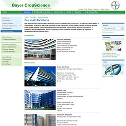 CropScience - Main Locations