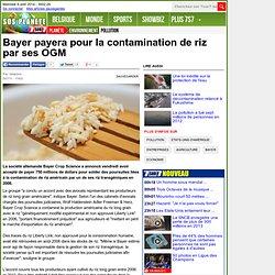 Bayer payera pour la contamination de riz par ses OGM - Environnement