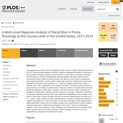 A Multi-Level Bayesian Analysis of Racial Bias in Police Shootings at the County-Level in the United States, 2011–2014