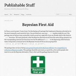 Bayesian First Aid