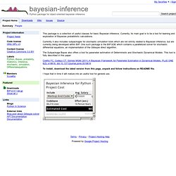 bayesian-inference - Project Hosting on Google Code