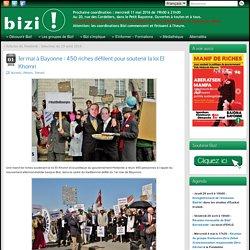 1er mai à Bayonne : 450 riches défilent pour soutenir la loi El Khomri