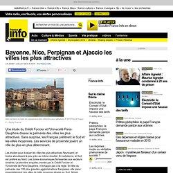 Bayonne, Nice, Perpignan et Ajaccio les villes les plus attractives - France - Toute l'actualité en France