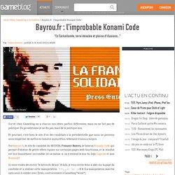 Bayrou.fr : l'improbable Konami Code