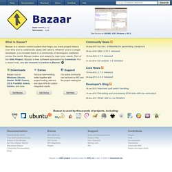 Welcome - Bazaar Version Control