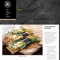 Bazaar Breads FMCG packaging Design