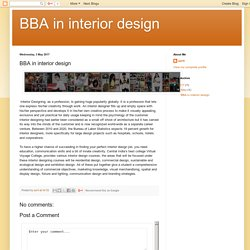 BBA in interior design: BBA in interior design