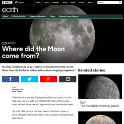 Earth - Where did the Moon come from?