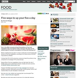 BBC Food - Five ways to up your five a day