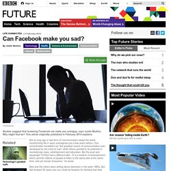 Can Facebook make you sad?