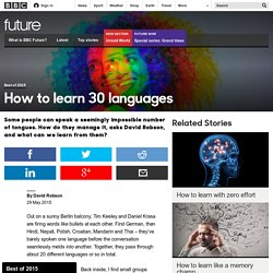 How to learn 30 languages