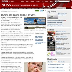 BBC to cut online budget by 25%