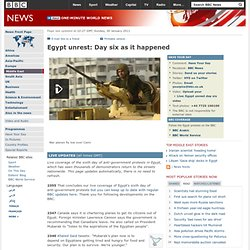 Live: Egypt unrest day six