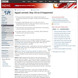 Egypt unrest: Day 10 as it happened