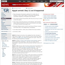Egypt unrest: Day 11 as it happened
