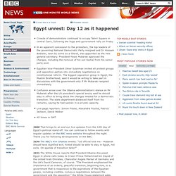 Egypt unrest: Day 12 as it happened