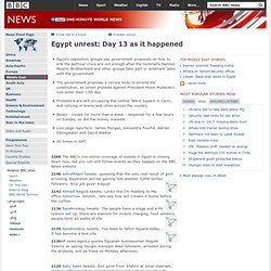 Egypt unrest: Day 13 as it happened