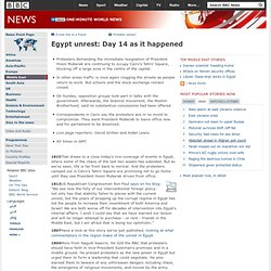 Egypt unrest: Day 14 as it happened