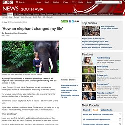 'How an elephant changed my life'