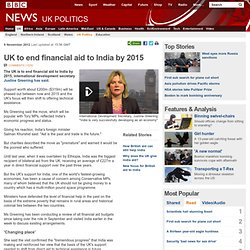 UK to end financial aid to India by 2015