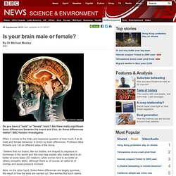 Is your brain male or female?