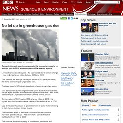No let up in greenhouse gas rise