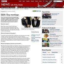 Q&A: Gay marriage