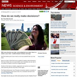 How do we really make decisions? (ntuition, reason: How rational are we?)