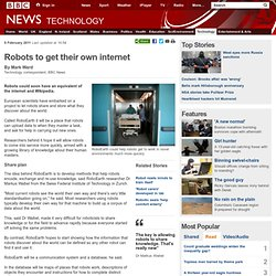 Robots to get their own internet
