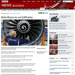 3.6.3 Rolls-Royce to cut 2,600 jobs