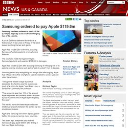 Samsung ordered to pay Apple $119.6m