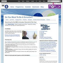 Radio 4 - So You Want to Be A Scientist - Home