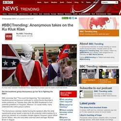 #BBCTrending: Anonymous takes on the Ku Klux Klan