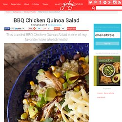 BBQ Chicken Quinoa Salad
