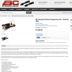 BC Racing C/O Kit - AUDI S4 (B5)