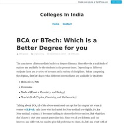 BCA or BTech: Which is a Better Degree for you