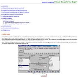 BCDI 3 : aide recherche mode expert