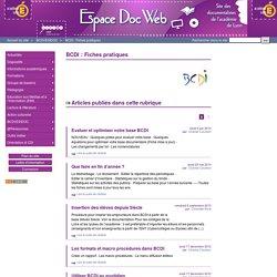 BCDI : Fiches pratiques - Espace Doc Web