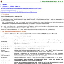 BCDI : répertoires d'installation