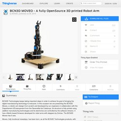 BCN3D MOVEO - A fully OpenSource 3D printed Robot Arm by BCN3D