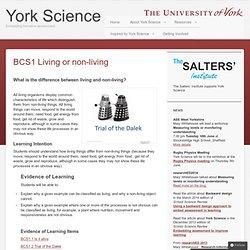 BCS1 Living or non-living