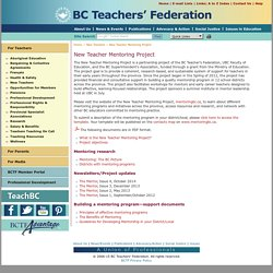 BCTF > New Teacher Mentoring Project