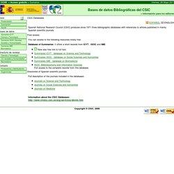 BDDOC CSIC: Sistemas de información CSIC