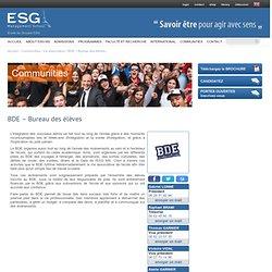 Ecole de Commerce - Association Bureau des Elèves - ESG.fr