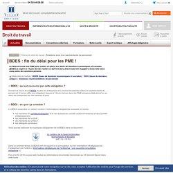 BDES : fin du délai pour les PME