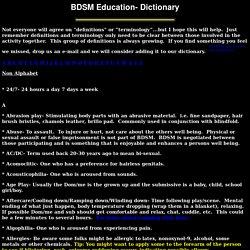 BDSM Dictionary