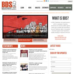 BDSmovement.net | Palestinian BDS National Committee