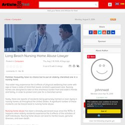 Long Beach Nursing Home Abuse Lawyer