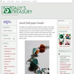 beach ball paper beads
