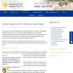 Long Beach Pet Trusts
